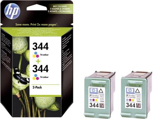 HP Inkt 344 + 344 Origineel Combipack Cyaan, Magenta, Geel C9505EE