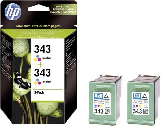 HP Inkt 343 Origineel Combipack Cyaan, Magenta, Geel CB332EE