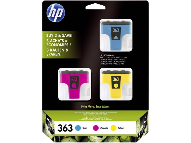 HP Cartridge multipack 363 Cyaan, Magenta, Geel