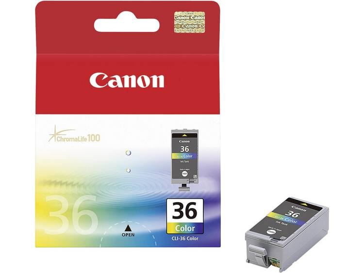 Canon Inkt CLI-36 Origineel Cyaan, Magenta, Geel 1511B001