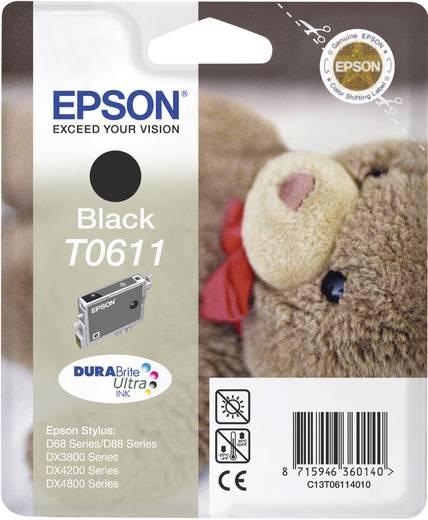 Epson Inkt T0611 Origineel Zwart C13T06114010