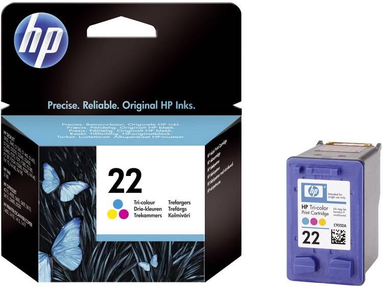 HP Cartridge 22 Cyaan, Magenta, Geel