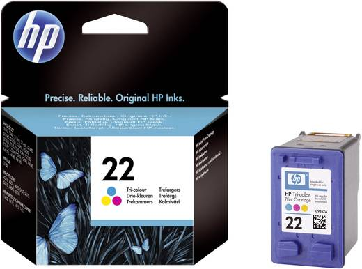 HP Cartridge 22 Cyaan, Magenta, Geel