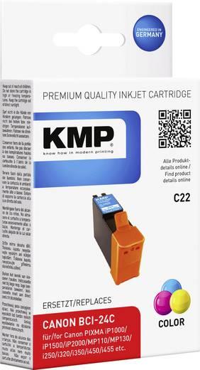 KMP Inkt vervangt Canon BCI-24 Compatibel Cyaan, Magenta, Geel BCI24C 0944,0030
