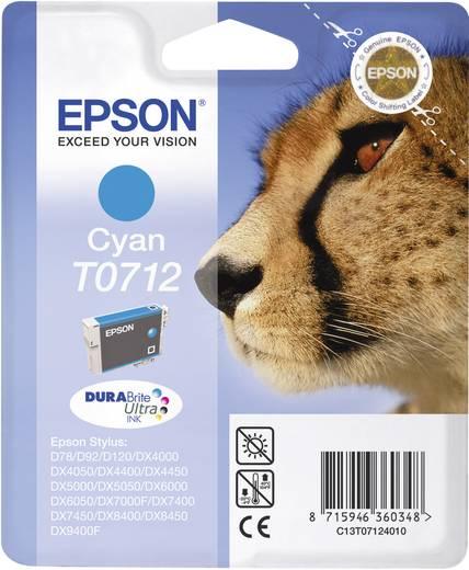 Epson Inkt T0712 Origineel Cyaan C13T07124011