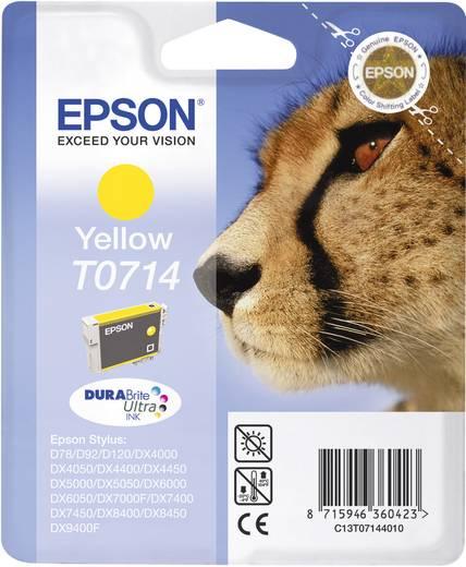 Epson Inkt T0714 Origineel Geel C13T07144011