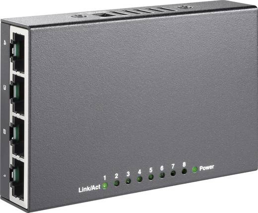 8-poorts mini Ethernet-switch met USB-stroomvoorziening
