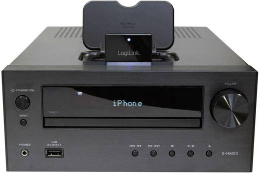 LogiLink Bluetooth muziekontvanger BT0021 Bluetooth versie: 2.0, A2DP, AVRCP 10 m Voor Apple Dockingstations