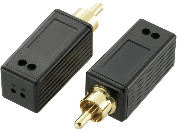 Digital-Audio (coaxial) Extender (verlenging) via 2-draads SpeaKa Professional 180 m