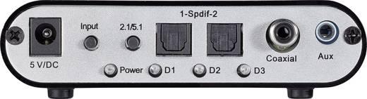 SpeaKa Professional Digitale naar analoge audio decoder Audio Converter Toslink, Digitale cinch, Jackplug, Cinch [1x Tos