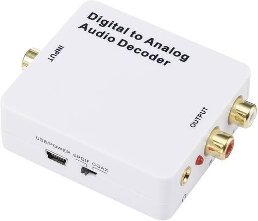 SpeaKa Professional SP-DAC-TC/KC Audio Converter Toslink, Cinch, Jackplug [1x Toslink-bus (ODT), Cinch-koppeling - 2x Cinch-koppeling, Jackplug female 3.5 mm] Wit