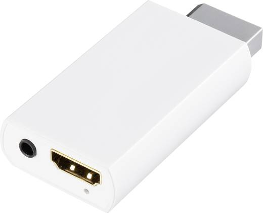 Wii / HDMI Adapter [1x Wii AV-stekker - 1x HDMI-bus] Wit