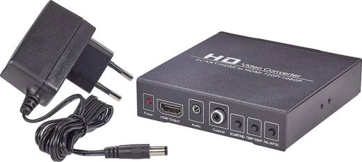 SpeaKa Professional 989271 AV Converter [SCART - HDMI, Jackplug, Digitale cinch] 1920 x 1080 pix