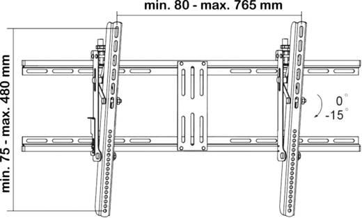 """TV-beugel SpeaKa Professional 989273 81,3 cm (32"""") - 160,0 cm (63"""") Kantelbaar"""