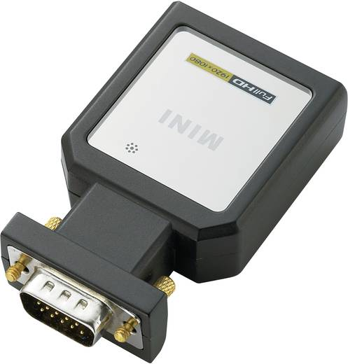 SpeaKa Professional SP-HD/VGA-YUV AV Adapter HDMI, VGA [1x HDMI-bus - 1x VGA stekker, Jackplug female 3.5 mm, Toslink-bus (ODT)] 1920 x 1080 pix Zwart
