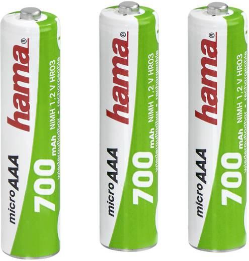 Oplaadbare AAA batterij (potlood) Hama HR03 NiMH 700 mAh 1.2 V 3 stuks