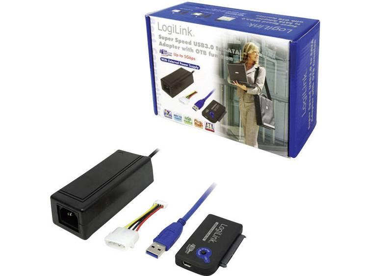 LogiLink USB 3.0 Aansluitkabel [1x USB 3.0 stekker A 1x SATA-combi-bus 15+7-polig] 0.50 m Zwart Verg