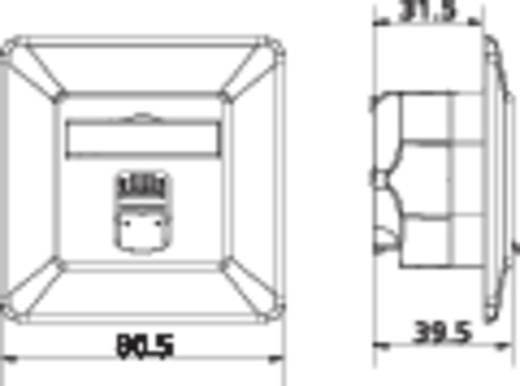 Netwerkdoos Inbouw Inzet met centraalstuk en frame CAT 6A 1 poort Metz Connect 130C371002-I Zuiver wit
