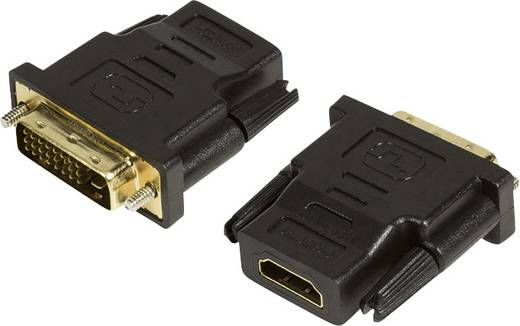 HDMI / DVI Adapter [1x HDMI-bus - 1x DVI-stekker 24+1-polig] Zwart LogiLink