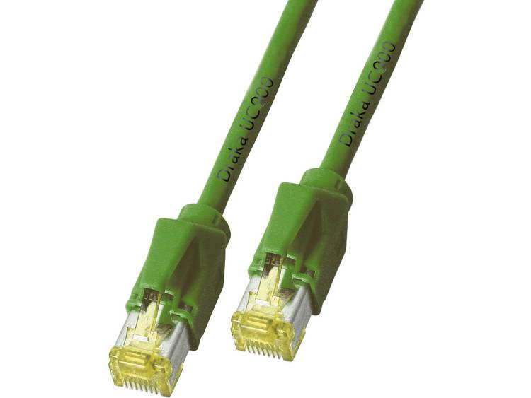 Netwerkkabel RJ45 CAT 6A S/FTP 10 m Groen DRAKA