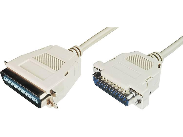 Kabel Digitus Parallel [1x D-sub stekker 25-polig - 1x Centronics stekker] 1.80 m Beige