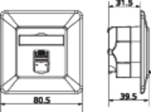Netwerkdoos Inbouw Inzet met centraalstuk en frame CAT 6 1 poort Metz Connect 1307371002-I Zuiver wit