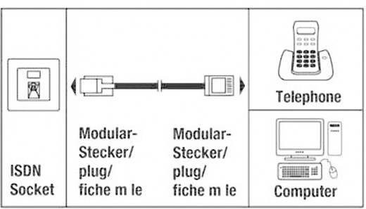 ISDN Aansluitkabel [1x RJ45-stekker 8p4c - 1x RJ45-stekker 8p4c]