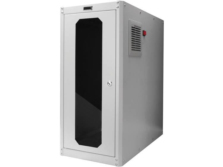 PC-kast Digitus Professional DN-CC 9002 mit Glastür und Lüfter (b x h x d) 300 x 650 x 600 mm Lichtgrijs (RAL 7035)