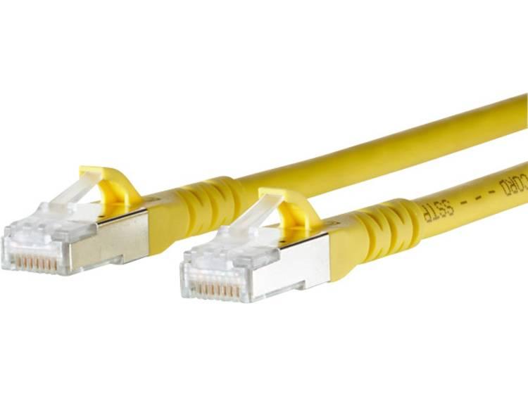 Netwerkkabel RJ45 CAT 6A S/FTP 0.5 m Geel Metz Connect