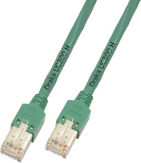 DRAKA RJ45 Netwerk Aansluitkabel CAT 5e F/UTP 3 m Groen Vlambestendig