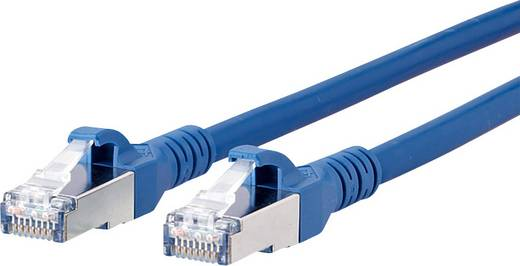Metz Connect RJ45 netwerkkabel CAT 6A S/FTP 1 m Blauw