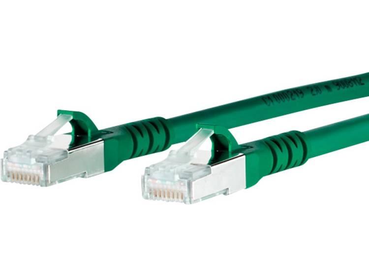 Netwerkkabel RJ45 CAT 6A S/FTP 1 m Groen Metz Connect
