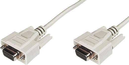 Kabel Digitus Serieel [1x D-sub bus 9-polig - 1x D-sub bus 9-polig] 5 m Beige