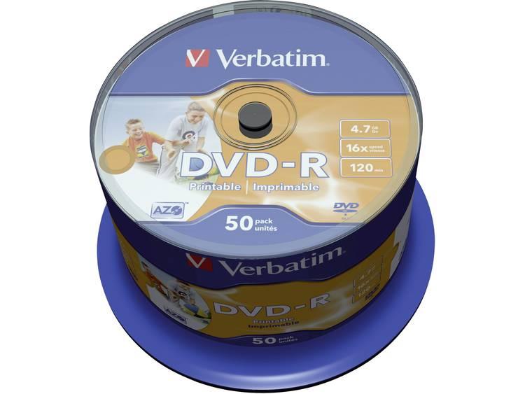DVD-R disc 4.7 GB Verbatim 43533 50 stuks Spindel Bedrukbaar