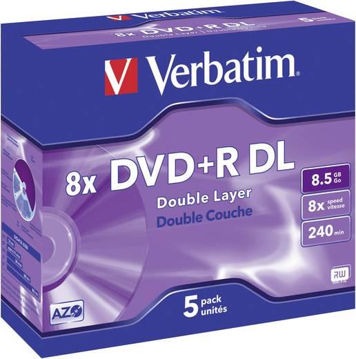 Verbatim DVD+R DL-schijf 43541 5 stuks 8.5 GB 240 min. N/A jewelcase