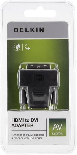Adapter HDMI / DVI [1x HDMI-bus - 1x DVI-stekker 24+1-polig] Zwart Vergulde steekcontacten Belkin