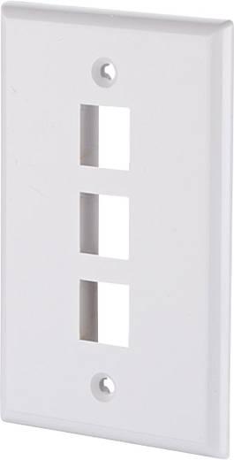 Netwerkdoos Inbouw Inzet met centraalstuk en frame Leeg 3 poorten Metz Connect 1309162402KE Parel-wit