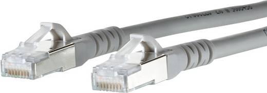 Metz Connect RJ45 Netwerk Aansluitkabel CAT 6A S/FTP 1.50 m Grijs Snagless