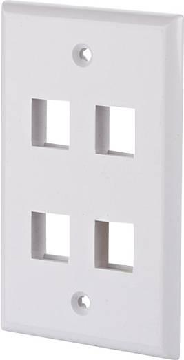 Netwerkdoos Inbouw Inzet met centraalstuk en frame Leeg 4 poorten Metz Connect 1309172402KE Parel-wit