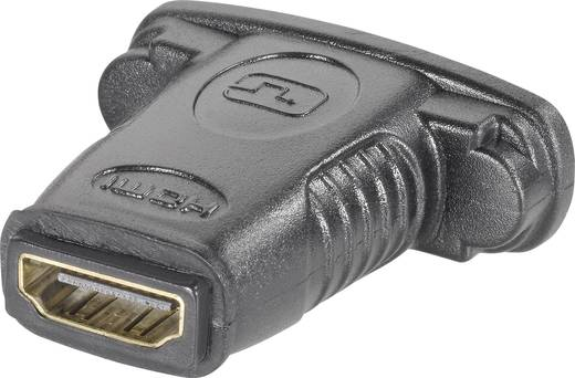 HDMI / DVI Adapter [1x HDMI-bus - 1x DVI-bus 24+5-polig] Zwart Vergulde steekcontacten Goobay
