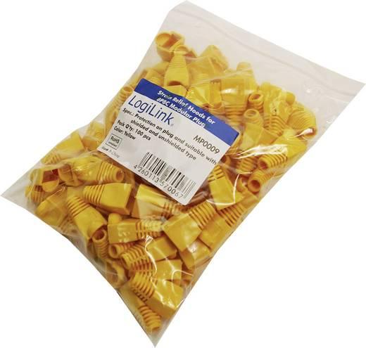 LogiLink-stekkerbeschermhuls geel Geel LogiLink MP0009 100 stuks