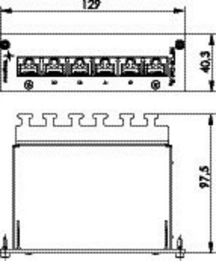 Telegärtner J02021A0054 6 poorten Netwerk-patchpanel CAT 6A 3 HE