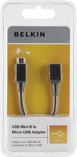 Belkin USB 2.0 Adapter [1x USB 2.0 stekker micro-B - 1x USB 2.0 bus mini-B] Zwart