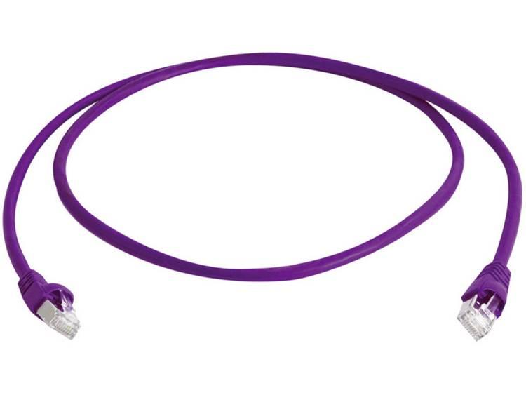 Telegärtner RJ45 Netwerk Aansluitkabel CAT 6A S FTP 0.25 m Violet UL gecertific