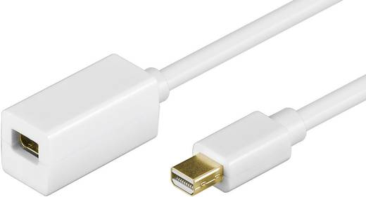 Goobay DisplayPort Verlengkabel [1x Mini-DisplayPort stekker - 1x Mini-DisplayPort bus] 1 m Wit