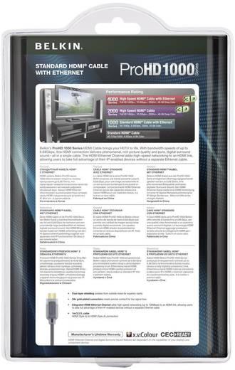 Kabel HDMI Belkin AV10000qp2M [1x HDMI-stekker - 1x HDMI-stekker] 2 m Zwart