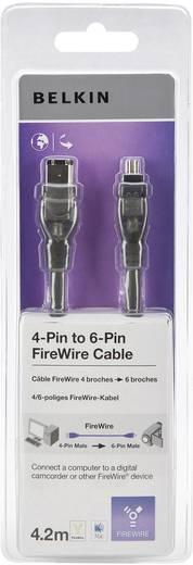 Belkin FireWire Aansluitkabel [1x FireWire (400) stekker 6-polig - 1x FireWire (400) stekker 4-polig] 4.20 m Zwart