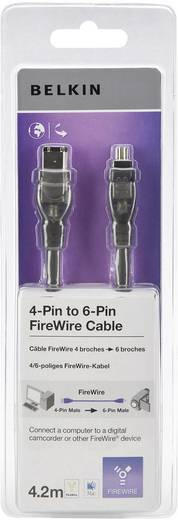 Kabel Belkin FireWire [1x FireWire (400) stekker 6-polig - 1x FireWire (400) stekker 4-polig] 4.20 m Zwart