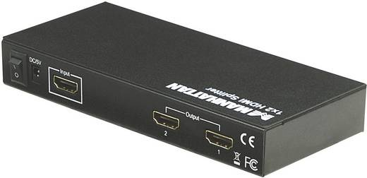 2 poorten HDMI-splitter Manhattan 1920 x 1080 pix (Full HD) Zwart