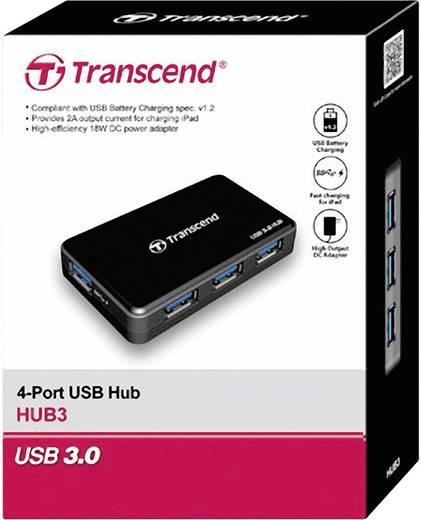 Transcend 4 poorten USB 3.0 hub TS-HUB3K Zwart